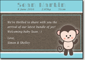 Baby Full Month Card